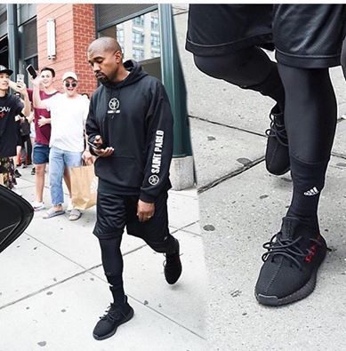 Kanye West out in BRAND New, un-released Yeezy Boost 350 V2's