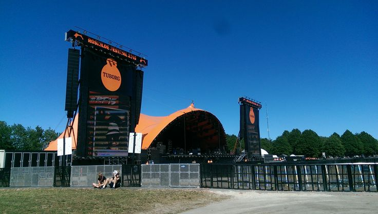 """The biggest music venue at the Roskilde Festival: """"Orange Stage"""""""