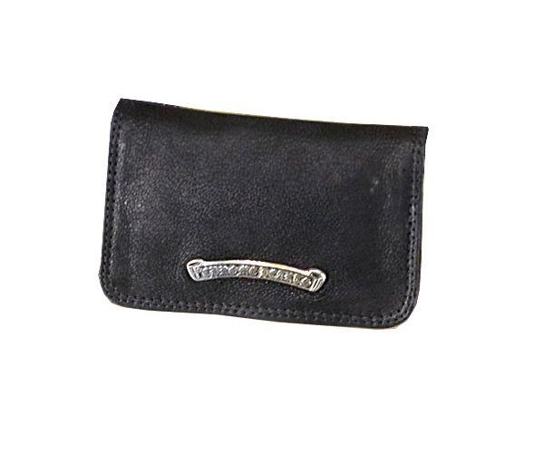 クロムハーツ 財布 コピー カードケース グロメット付き デストロイレザー Chromehearts 026