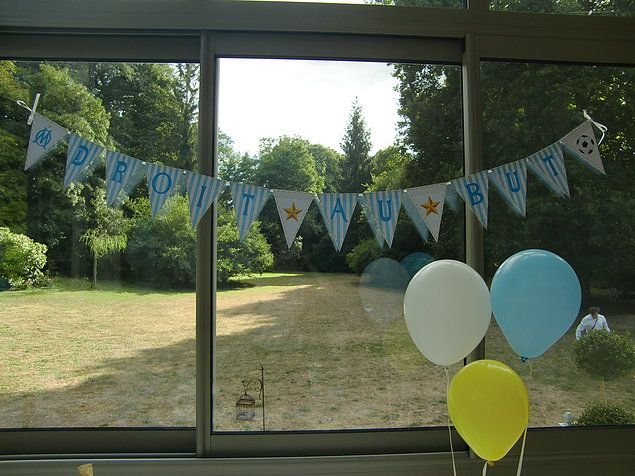 Banderole personnalisée pour fête, anniversaire, baptême, baby-shower...