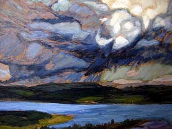 Helmer Osslund (1866-1938): Åskväder över Ångermanland