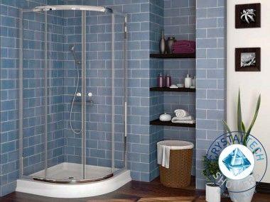 Crystal Tech - St. Matheus Chrome Quadrant Shower Enclosure CTG701