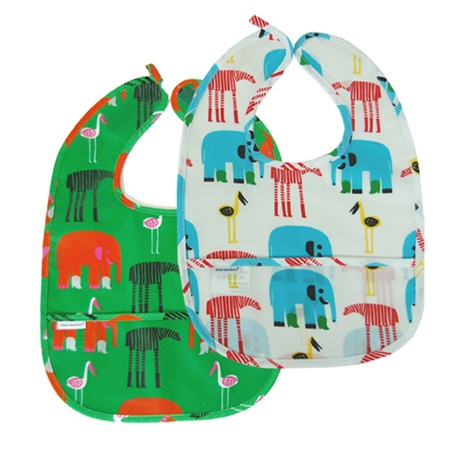 elephants, marimekko, bib, baby, modern, mod, nursery, fashion
