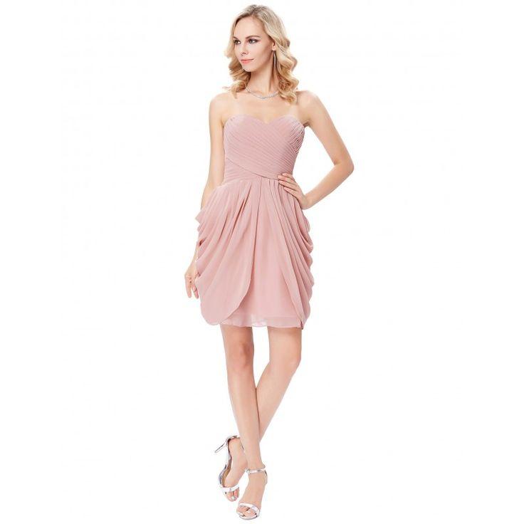 Ružové spoločenské šaty GK000124