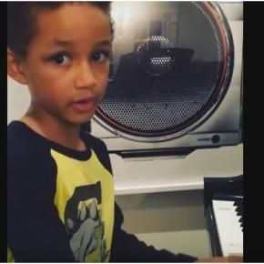 #Egypt Dean 5yr old son of #Alicia Keys & #Swizz Beatz - debut song Super Boy hits social media