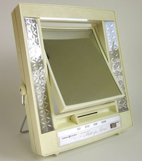 general electric lighted make up mirror 1960. Black Bedroom Furniture Sets. Home Design Ideas