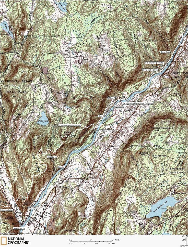 Appalachian Trail Map Kent CT 14 miles