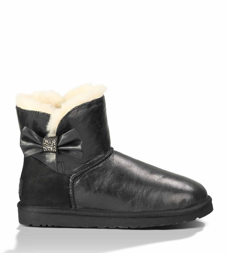 ugg australia bailey crystal button mini boot black up rh sarahmscott com