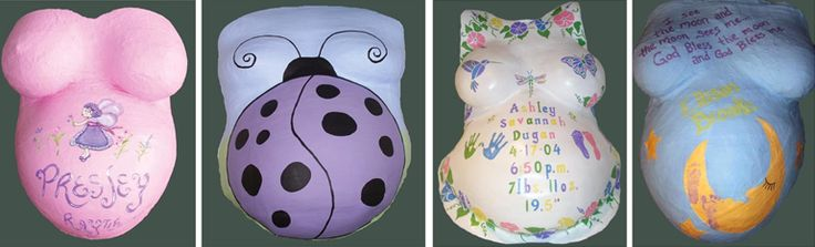 Proud Body Pregnancy Belly Cast Decorating Kit