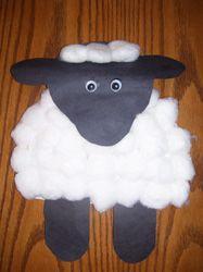 Nursery Rhyme Sheep - Little Bo Peep, Mary Had a Little Lamb, or use black tempera powder paint for Baa Baa Black Sheep