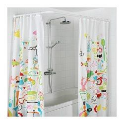 IKEA - VIKARN, Shower curtain rod, The shower curtain rod can be installed in a U shape, L shape or corner solution.