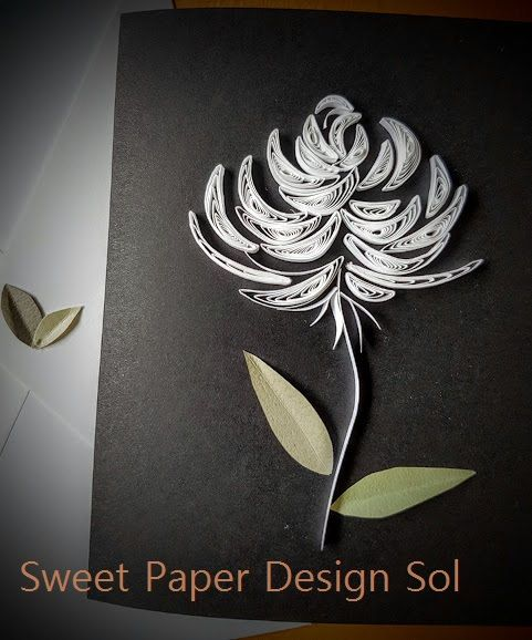 Paper Quilling Handmade Rose Card by SweetPaperDesignSol on Etsy