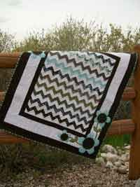 """Pick Me! Quilt Pattern. This fun zig-zag quilt will have you thinking… Pick Me for your next baby quilt! The approximate finished size is 36"""" x 45"""" . http://www.kayewood.com/item/Pick_Me_Quilt_Pattern/2810 $9.00"""