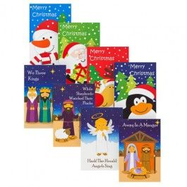 31 cards in assorted designs for classmates and teacher. Card size 6 x 9cm.