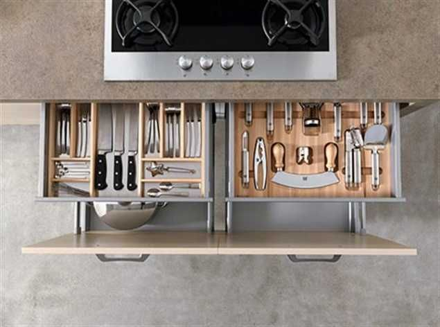 Contemporary Kitchen Design Unite New Materials, Natural Kitchen Colors and Integrated High Tech Appliances