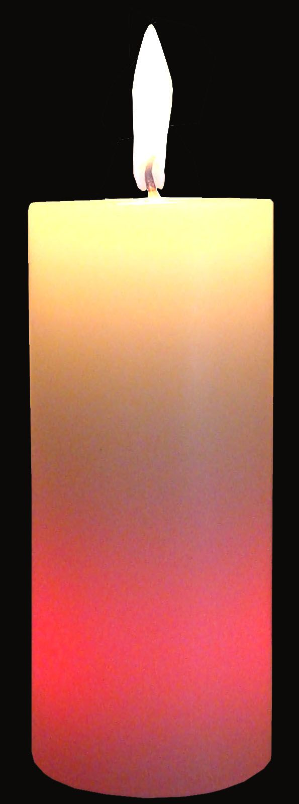 Cylinder Pillar Candle 2 D x 4.6 H w/ Color Changing LED ...