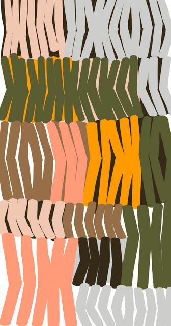 Dishes by Ophelia Pang #illustration #pattern, design, repeat, mark making, autumn colour pallet, design, repeat, pattern