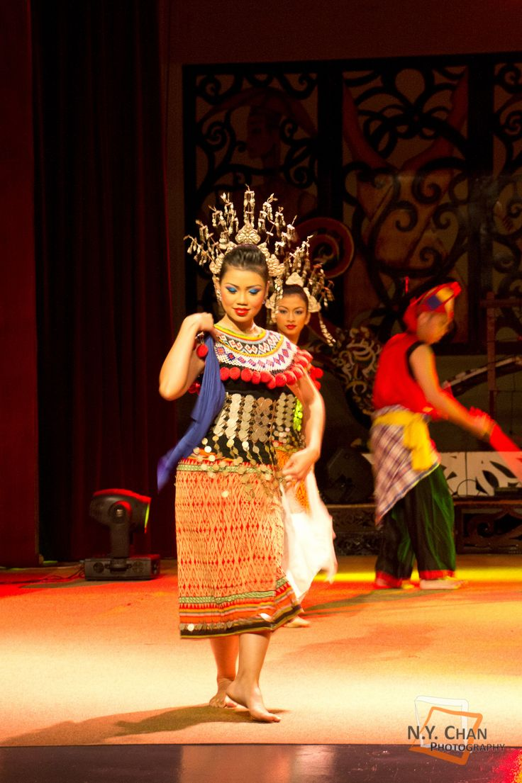 Malaysian Traditional Dance from Sarawak Cultural Village, Kuching. Ngajat Dance from Iban people of Sarawak