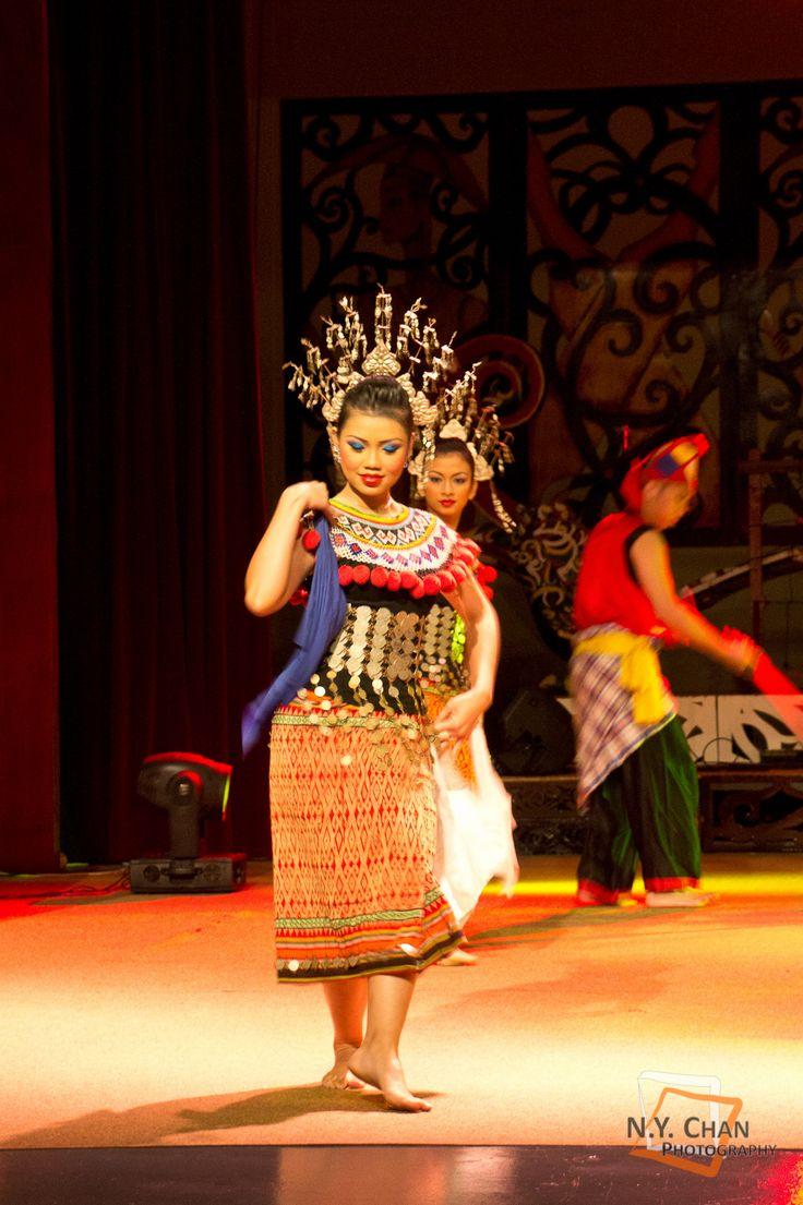Malaysian Traditional Dance from Sarawak Cultural Village, Kuching. Ngajat Dance from Iban people of Sarawak