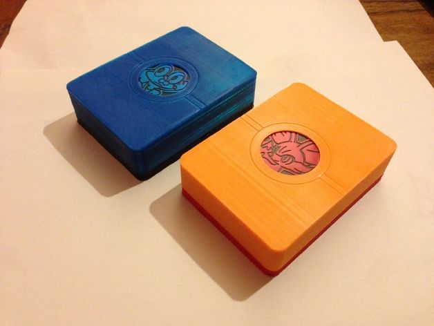 """A box to hold your Pokemon TCG cards and accessories.   There's a compartment under the deck to hold counters, and a recess in the top to hold the """"coin"""" that comes with the Kalos starter decks."""