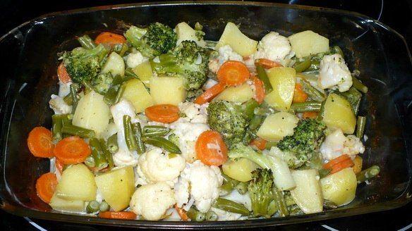 Овощи в белом соусе https://www.go-cook.ru/ovoshhi-v-belom-souse/  Рецепт теплого салата на скорую руку. Легкий молочный соус станет отличной альтернативой «тяжёлым» сметане и майонезу. Такой салат может вполне сойти за диетический завтрак или ужин! Рецепт овощей в белом соусе Время подготовки: 10 минут Время приготовления: 20 минут Общее время: 30 минут Кухня: Русская Тип: Закуска Порций: 4 Ингредиенты Четыре картофелины Две морковки Двести … Читать далее Овощи в белом соусе