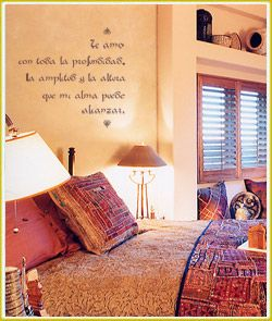Southwestern Style Room- my wall saying Live Simply, Love Generously, Care Deeply, Speak Kindly... Leave the rest to God