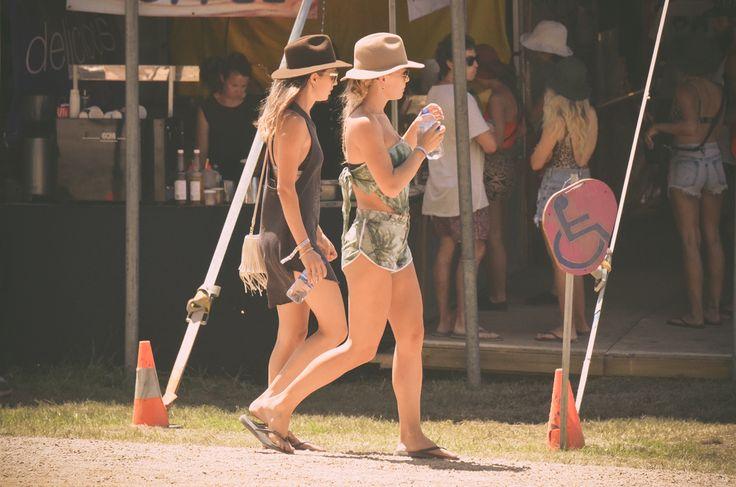 Festival goers cruising.  http://byronbaycampinghire.com.au/