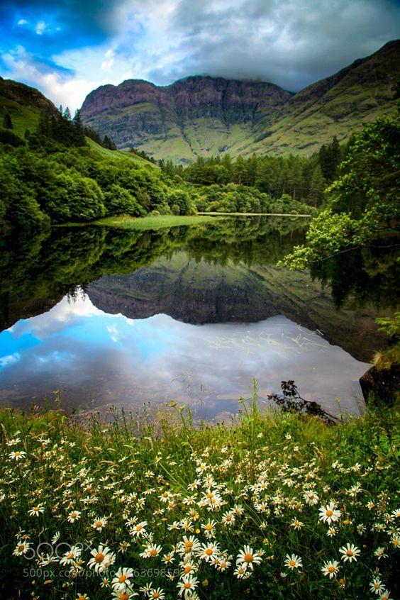 At the picturesque Bidean Nam Bian, in Glencoe, Scotland.