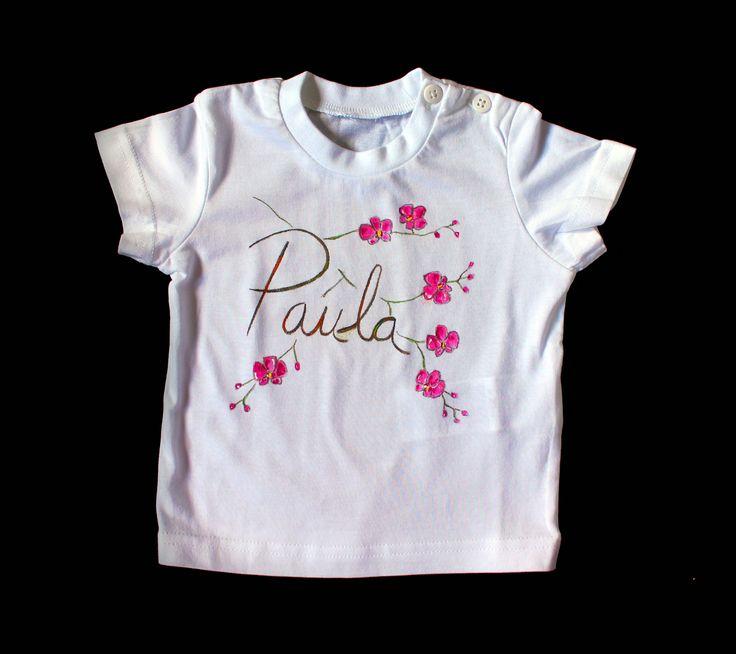 """Camiseta """"Orquídea"""".  Disponible también el body a juego: https://www.facebook.com/1421183144766890/photos/pb.1421183144766890.-2207520000.1410775533./1543099375908599/?type=3&theater"""