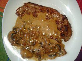 Mi Cocina de Recetas Variadas: Ternera con salsa de champiñones al brandy