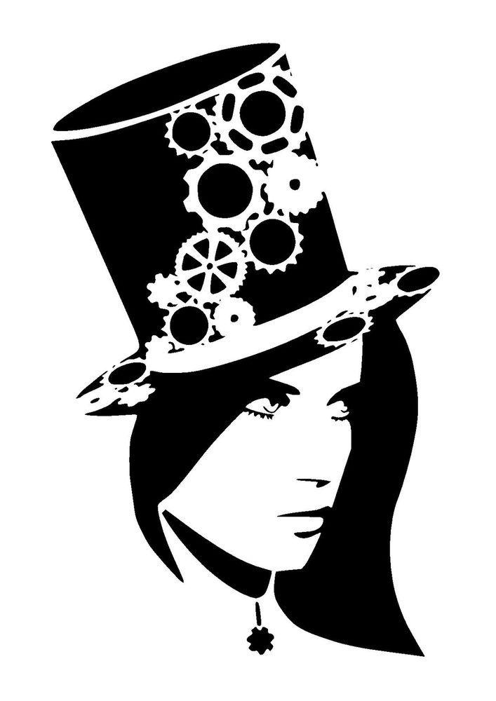 25 best steampunk stencils lovestencil Ebay etsy images on ...