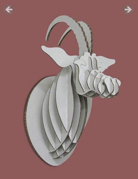 SABLE ANTELOPEMaterials: White Xanita BoardDimensions: 86cm (H) x 56cm (L) X 50cm (W)