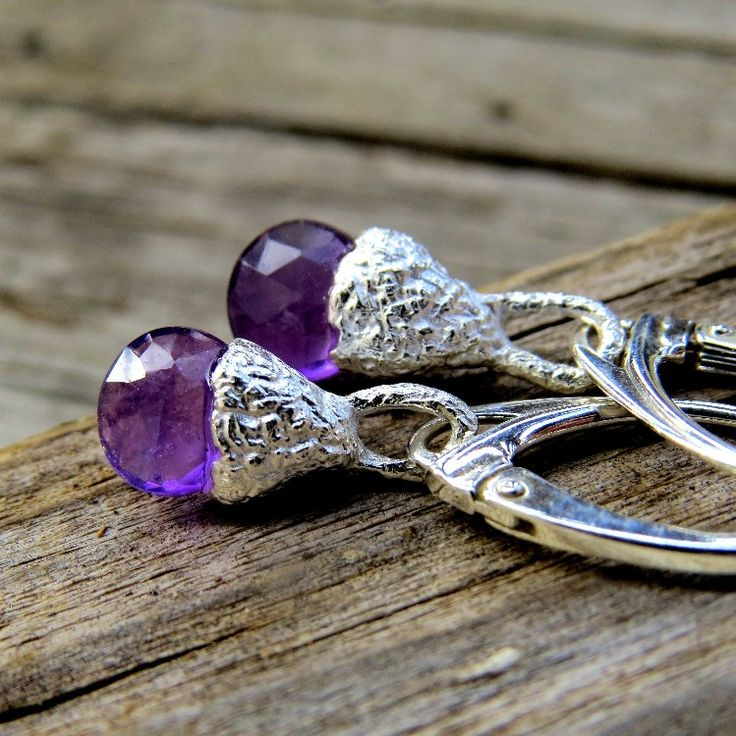 Excited to share the latest addition to my #etsy shop: Acorn Earrings, Raw Gemstone Earrings, Sterling Silver Earrings, Organic Earrings, Minimalist Earrings, Amethyst Earrings, Purple Earrings http://etsy.me/2AALGbr