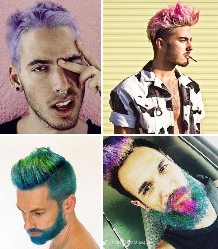 Vale até barba colorida para completar o visual.:
