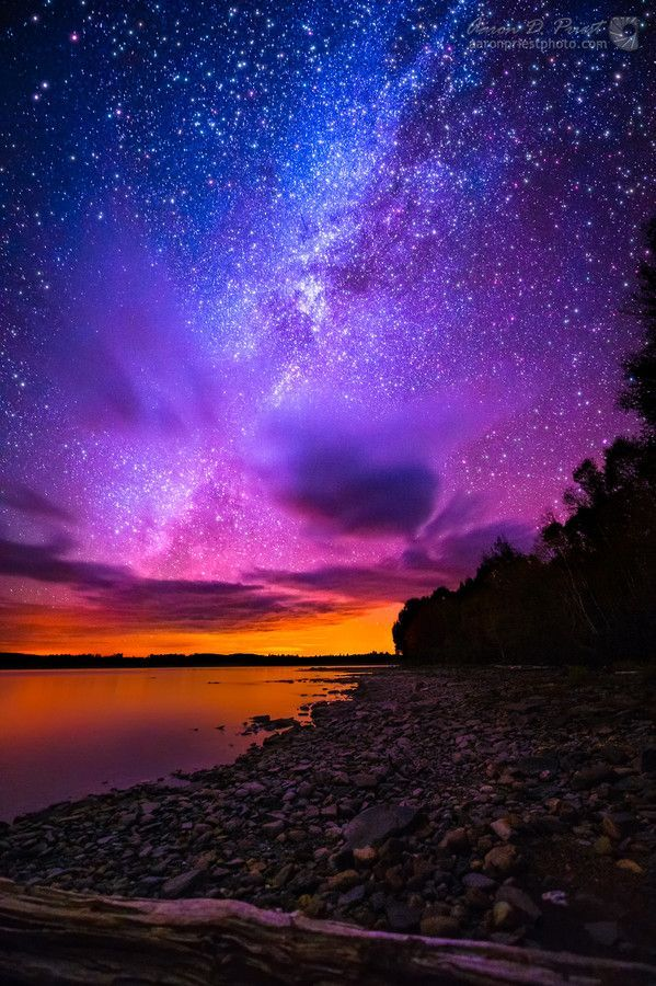 Photo Milky Way over Spencer Bay, Moosehead Lake, Maine by Aaron Priest on 500px: