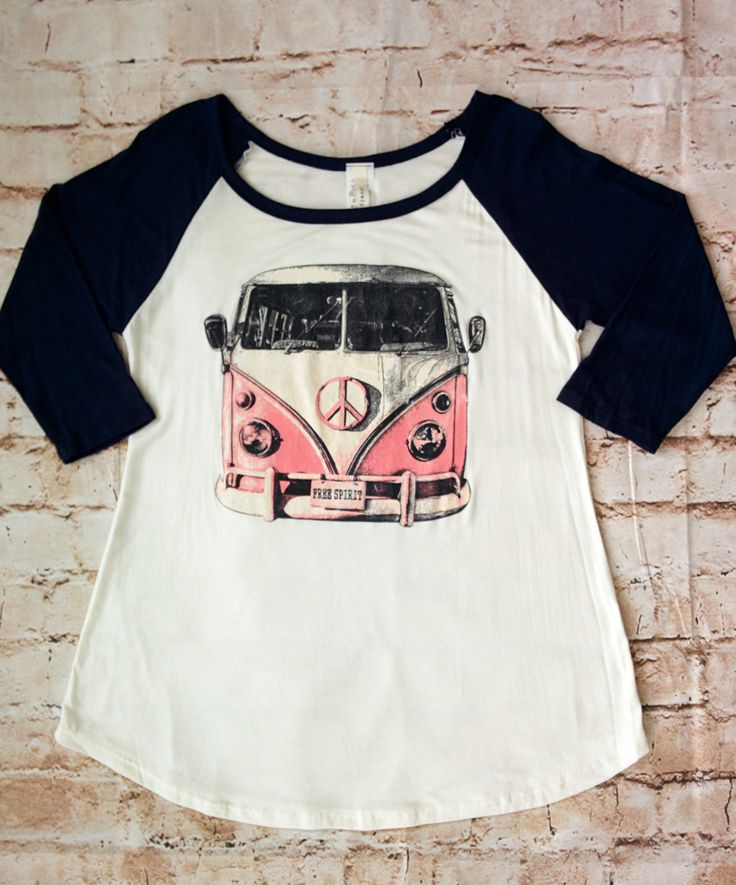 vw bus baseball tee small only my style pinboard. Black Bedroom Furniture Sets. Home Design Ideas
