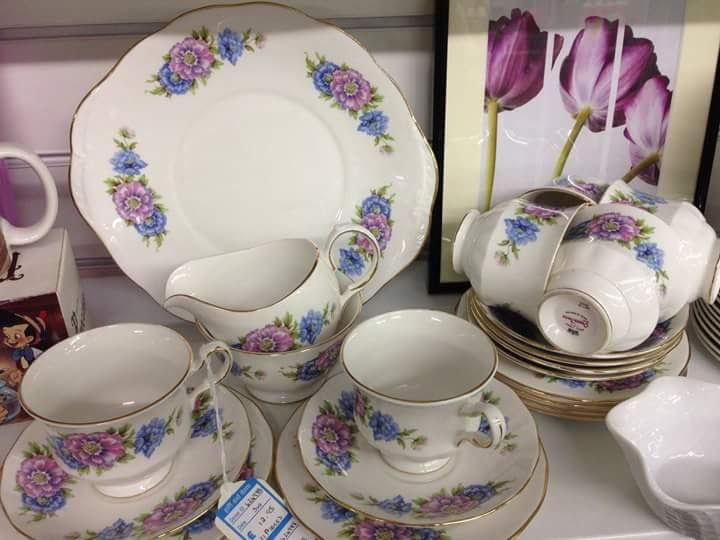 A beautiful tea set found in one of our Sue Ryder shops.