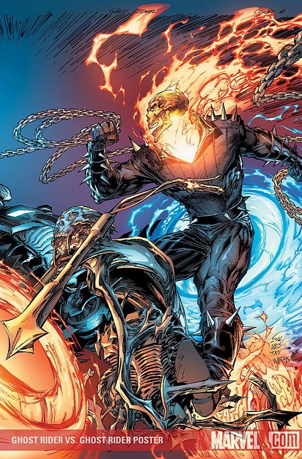 """GHOST RIDER #28 - Covers by MARC SILVESTRI """"The Last Stand of the Spirits of Vengeance"""""""