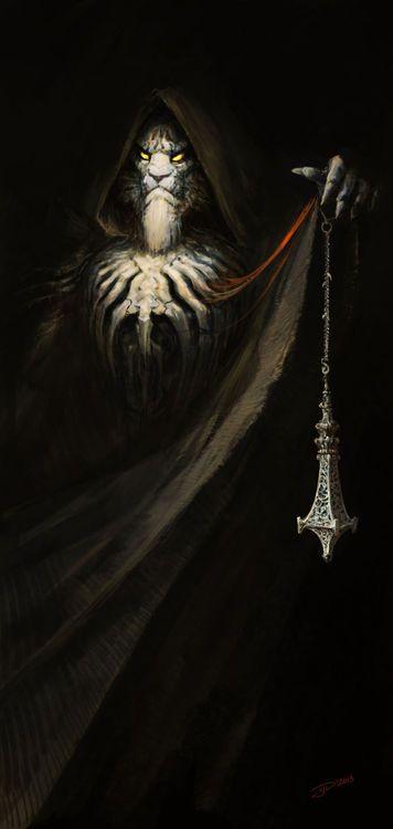 Бен'Гален  Ветвь Жизни, перевертыш белый тигр. Следует учению Рерум.
