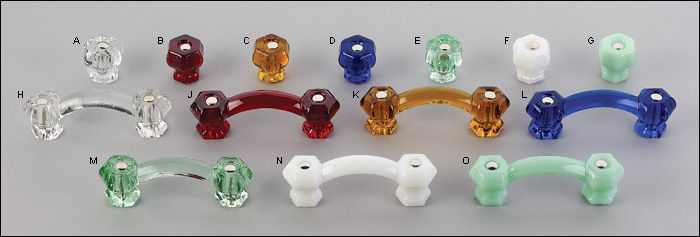 Hexagonal Glass Knobs Lee Valley 1 1 8 Quot 2 80 10 2 40