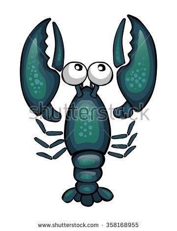 cartoon blue crayfish, top view #assets #game #vector #UI #cartoon #casual #awesome