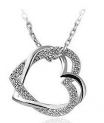 Silver Twisted Heart shaped necklace