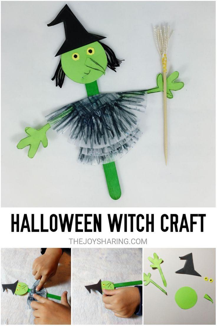 Halloween Witch Craft Halloween Crafts For Kids Halloween Arts