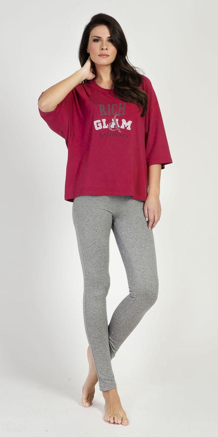 Blouse 97% Viscose 3% Elastane | Loungewear| Vamp! Blouse 97% Viscose 3% Elastane 5425
