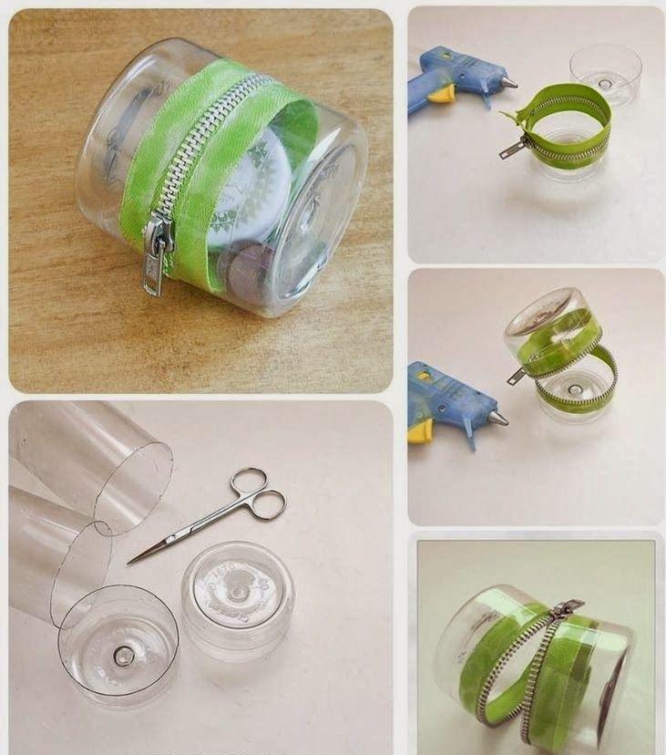 Diy Projects: DIY Plastic Bottle Zipper Container