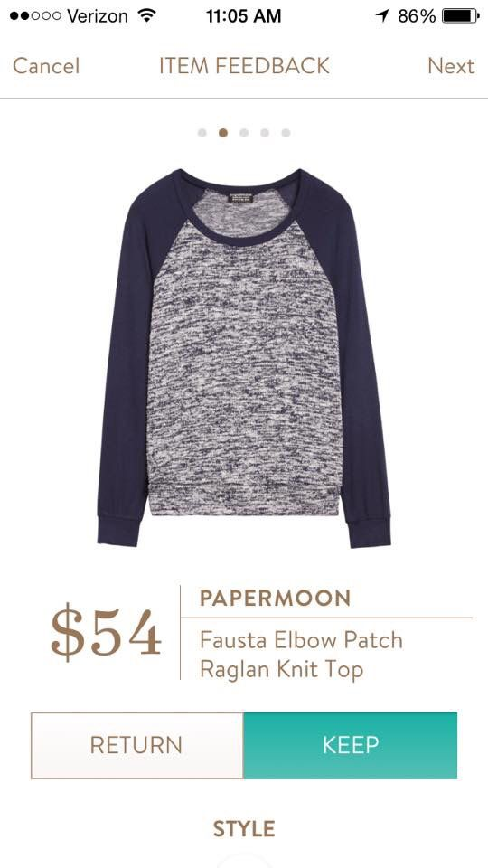 Papermoon Fausta Elbow Patch Raglan- fits Tts. Very soft & light weight. Faux suede elbow patches