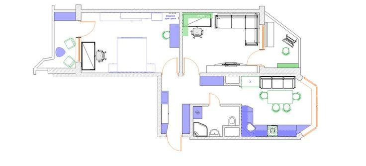 Планировка недели: двухкомнатная квартира в доме новой серии Планировка…
