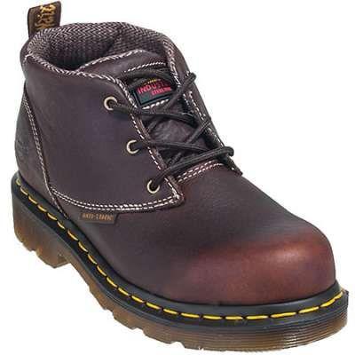 Dr. Martens Boots: Women's Steel Toe R14700200 ESD Chukka Brown Boots - Women's Steel Toe Work Boots - Women's Steel Toe Boots - Footwear
