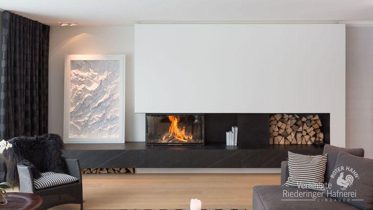 Panoramakamin #Panoramakamin #Kamin #Ofen #fireplace #Ofenkunst #Riederinger Hafnerei #Vereinigte Riederinger Hafnerei #Wärme #Feuer #Holz