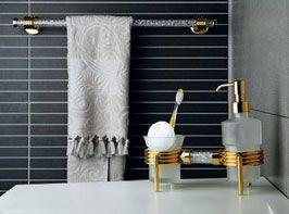 αξεσουάρ μπάνιου σε χρυσό και χρωμέ σειρά orbit